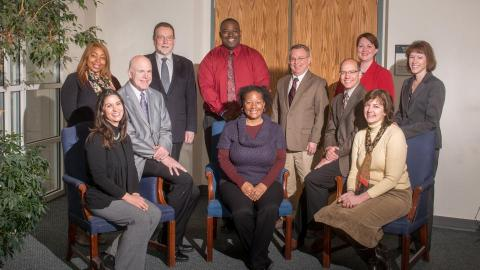 Photo of  Kelli King, Renee Batman, Pat McBride, Dan Hoyt, Andre Fortune, Jeanette Jones, Peter Pinnell, Bill Watts, Heather Ockenfels, Deborah Minter, Amy Goodburn