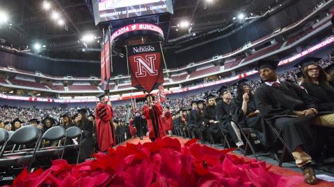Photo of UNL commencement ceremony