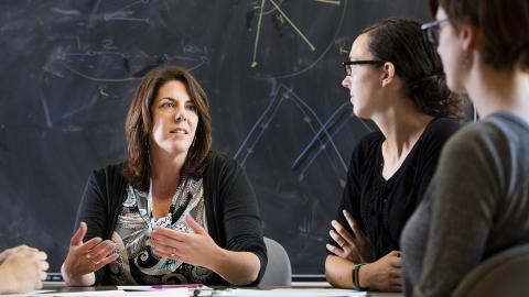 Photo of Judy Walker in a classroom