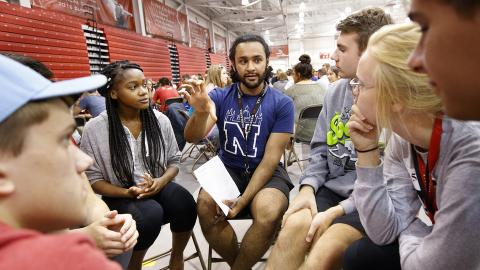 Nebraska students participate in Husker Dialogues, a diversity and inclusion event facilitated by more than 370 faculty, staff and student conversation guides. The university will expand campus resources on having civil conversations about diversity and inclusion with a Day of Understanding on Dec. 7.