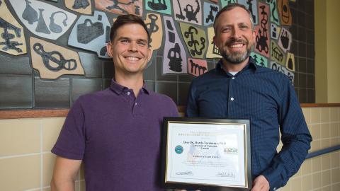 Deryl Hatch-Tocaimaza (right) with Adam Fullerton