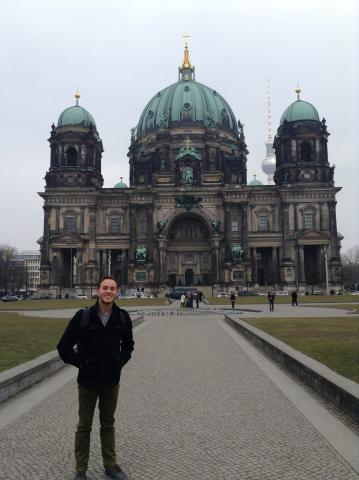 Photo of Jackson Thomas, who studied at the Deutsch in Deutschland Institute in Berlin in spring 2013