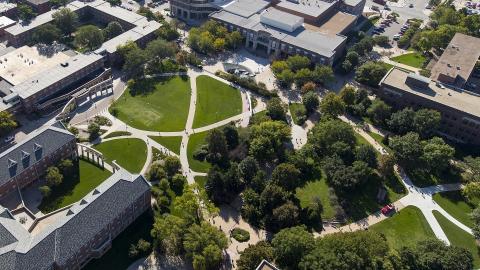 Aerial photo of City Campus