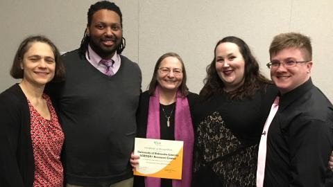 University of Nebraska-Lincoln LGBTQA+ Resource Center accepts ACPA social justice education award