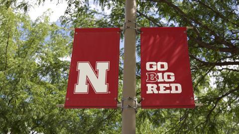 Nebraska Go Big Red banners