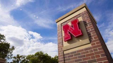 Pillar with Nebraska N