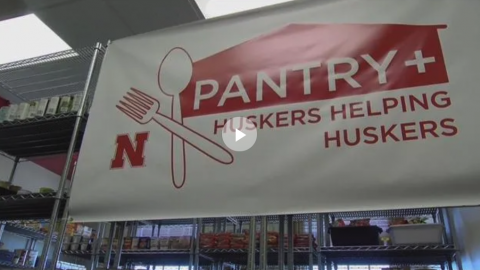 KLKN News story on the Huskers Helping Huskers Pantry+