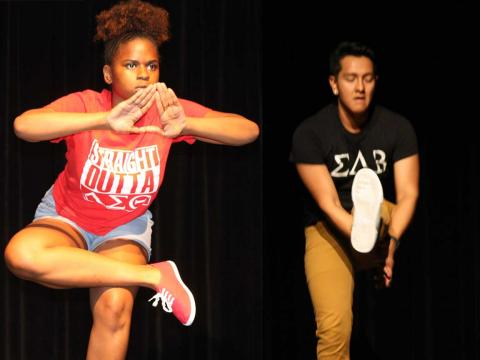 Delta Sigma Theta and Sigma Lambda Beta took home top honors for the annual Stroll Off competition at the University of Nebraska-Lincoln.