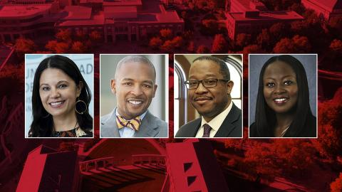 Finalists selected in Nebraska's search for a vice chancellor for diversity and inclusion are (from left) Eloísa Gordon-Mora, Marco Barker, Dwight Hamilton and Lisa Jones.
