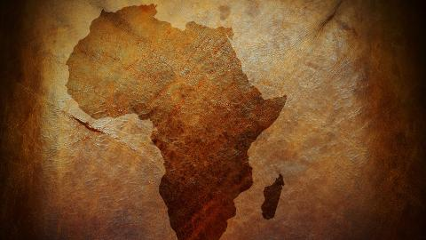 Africa on a map