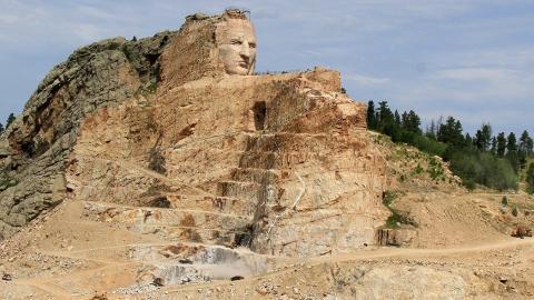 Photo of Crazy Horse memorial in South Dakota