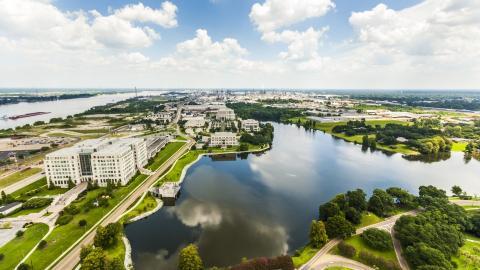 Courtesy image of the skyline of Baton Rouge, Louisiana.
